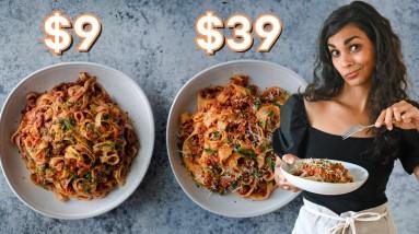 $9 vs. $39 Vegan Bolognese