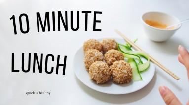 A Week of 10 Min Lunch Ideas! (vegan, pretty healthy)