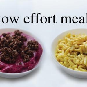 A Week of Low Effort Vegan Meals (pretty healthy)