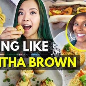 I Ate Like TABITHA BROWN~ Carrot Hot Dogs?! Vegan Devilled Eggs, Vegan Mac & Cheese!