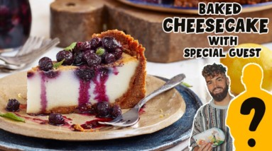 NEW YORK STYLE BAKED VEGAN CHEESECAKE..with special guest!