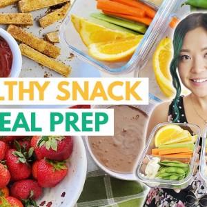 HIGH PROTEIN VEGAN SNACKS to look like a SNACC (vegan snack meal prep)