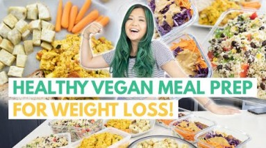 LOW CALORIE HIGH PROTEIN VEGAN MEAL PREP (Vegan Meal Prep For Weight Loss)