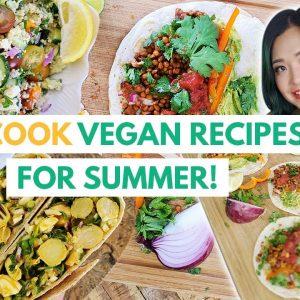 NO COOK + LAZY 5 Minute Summer Vegan Recipes