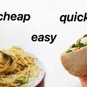 Quick Meal Ideas for Students! (healthy, vegan)