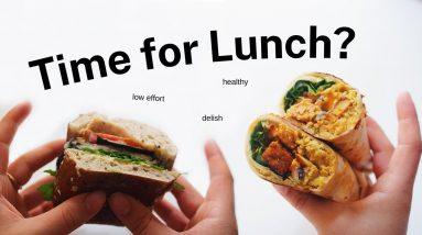 Low Effort Lunch Ideas! (healthy, vegan)